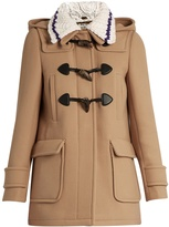 Miu Miu Detachable-collar wool duffle coat