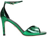 Lola Cruz Sandals In Green Leather