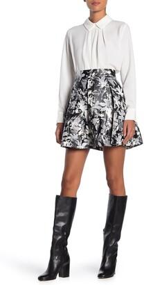 FRNCH Printed Box Pleat Skirt