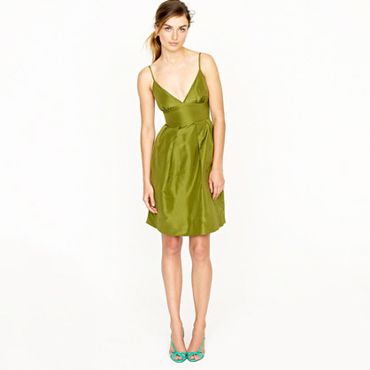 J.Crew Adrienne dress in silk taffeta