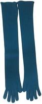 Prada Turquoise Cashmere Gloves