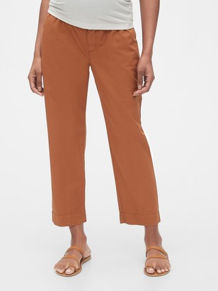 Gap Maternity Straight Crop Pants
