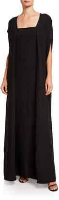 Valentino Cape Silk Dress