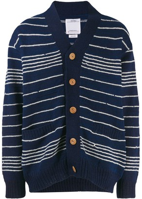 Visvim Striped Long-Sleeve Cardigan