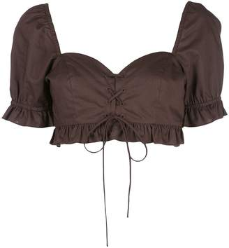 Callipygian bustier crop top