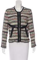 IRO Elomi Leather-Trimmed Jacket