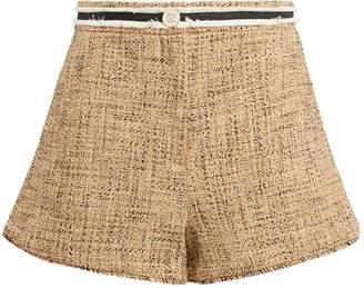 Sandro High-Waisted Tweed Shorts