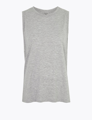 Marks and Spencer Relaxed Sleeveless Tank Vest Top