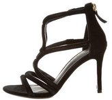Sandro Suede Cage Sandals