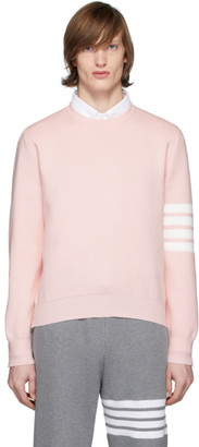 Thom Browne Pink 4-Bar Milano Stitch Sweater