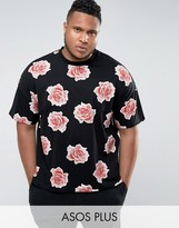 Asos PLUS Oversized T-Shirt With All Over Floral Print