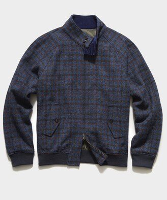 Todd Snyder Harris Tweed Varsity Jacket in Blue