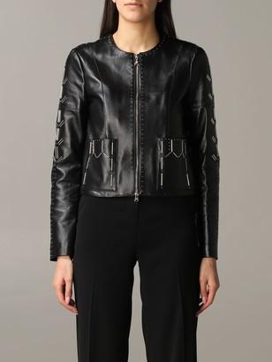 Patrizia Pepe Leather Jacket With Studs
