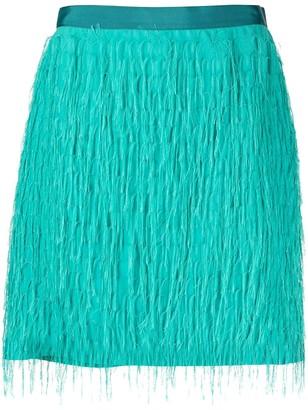 Pinko Short Fringed Skirt