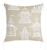 "Legacy Ming Pagoda Pillow, 22""Sq."