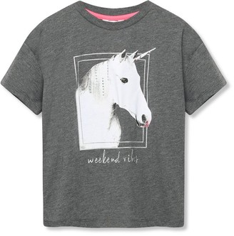 M&Co Oversized unicorn t-shirt (3-12yrs)