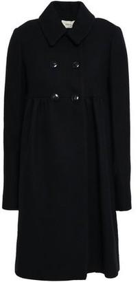 BA&SH Primera Double-breasted Brushed-tweed Coat