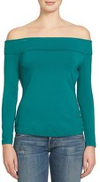 1 STATE Women's 1.state Off The Shoulder Stretch Jersey Top