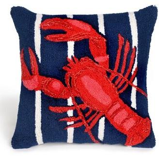Walton Breakwater Bay Lobster on Stripes Throw Pillow Breakwater Bay