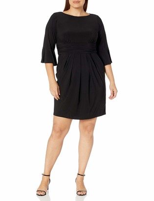 Eliza J Women's Size Sheath Dress with Flounce Sleeve