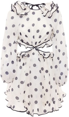 Zimmermann The Lovestruck Ruffled Linen Mini Dress