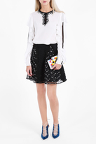 Giamba Floral Embroidered Skirt