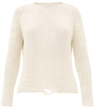 Brock Collection Deconstructed Cashmere And Silk Sweater - Ivory