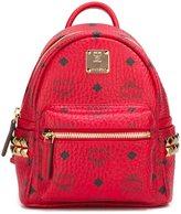 MCM logo print mini backpack - women - Leather/PVC/metal - One Size