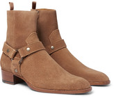 Saint Laurent Suede Harness Boots
