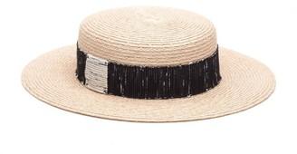 Eugenia Kim Brigitte Boucle Band Boater Hat
