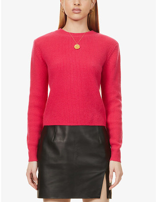 Reformation Cesina ribbed recycled-cashmere jumper
