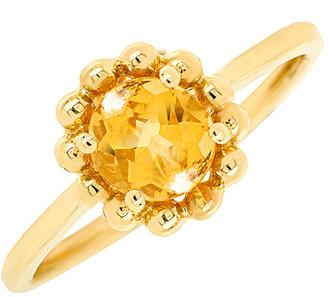 Diana M Fine Jewelry 14K 3.13 Ct. Tw. Diamond & Citrine Ring