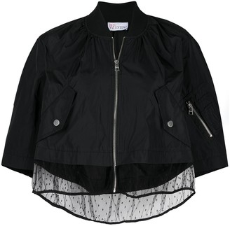 RED Valentino Taffeta And Point D'esprit Tulle Jacket