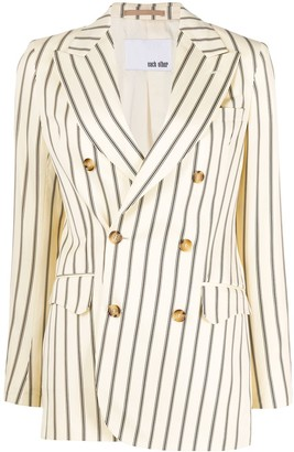 Each X Other Retro Stripes double-breasted blazer