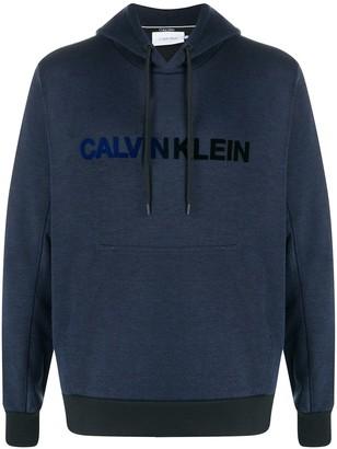 Calvin Klein Contrast-Trim Logo Hoodie