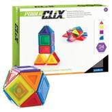 Guidecraft 24-Piece PowerClix® Solids Set