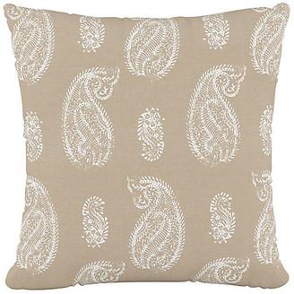 One Kings Lane Paisley Cotton Pillow - Paisley Tan