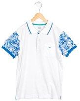 Armani Junior Boys' Printed Polo Shirt w/ Tags