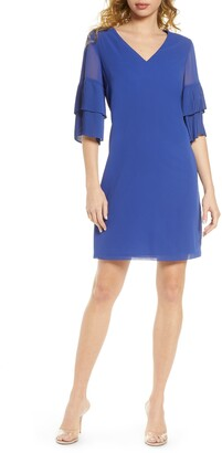 Sam Edelman Pleat Sleeve Shift Dress