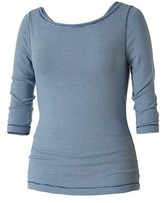 Royal Robbins Women's Kickback To Front Stripe 3/4 Sleeve Tee