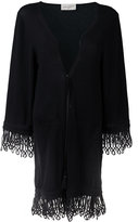 Antonia Zander cashmere drawstring cardi-coat - women - Cotton/Polypropylene/Cashmere - M