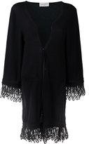 Antonia Zander drawstring cardi-coat - women - Cotton/Polypropylene/Cashmere - S