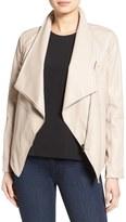 BB Dakota 'Carmen' Faux Leather Drape Front Jacket