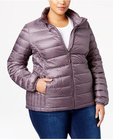 32 Degrees Plus Size Packable Down Puffer Coat