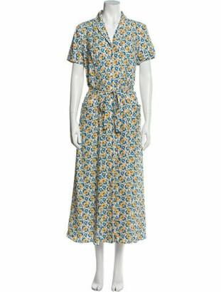 HVN Silk Long Dress w/ Tags Blue