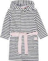 Joules Embroidered cat paw print striped dressing gown 4-12 years