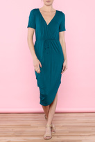 Everly Teal Wrap Dress