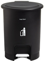 Container Store 2.5 gal. Round Step Can Black