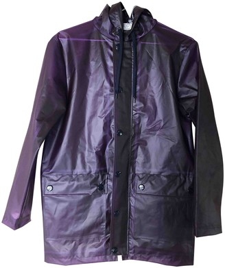 Petit Bateau Purple Trench Coat for Women