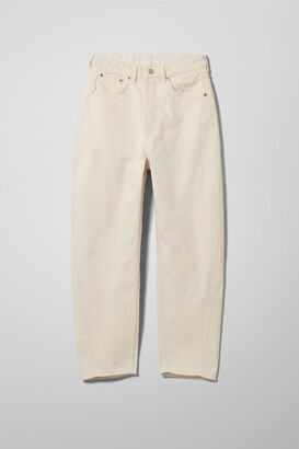Weekday Meg High Mom Jeans - Beige